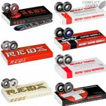 BONES Skateboard BEARINGS 608 Reds, Super Reds, Swiss, Ceramics, etc.  All types Sets of 8